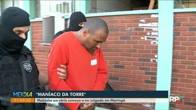 Começa o julgamento do 'maníaco da torre' em Maringá - Ele é considerado o maior matador em série do estado.