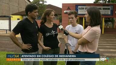 Família de aluno baleado dentro do Colégio de Medianeira fala sobre massacre em SP - Quase seis meses depois, família sofre ao ver a situação se repetir em outra escola.