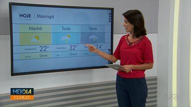 Previsão é de tempo instável para Maringá e região - São previstas pancadas de chuva durante a tarde.