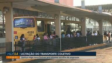 Justiça nega nova liminar pra retomar escolha de empresas do transporte coletivo - Mais uma vez o Poder Judiciário foi contra os argumentos da prefeitura de Londrina. O município já teve negados outros pedidos em Londrina e no TJPR em Curitiba.