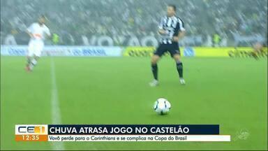 Chuva atrasa jogo Ceará x Corinthians - Confira outras notícias no g1.com.br/ce