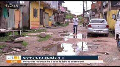 """""""Calendário JL"""" realiza vistoria na passagem Integração, no Jurunas - Moradores reclamam há 3 anos da falta de saneamento no local."""