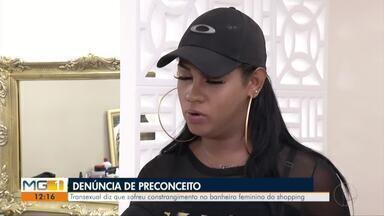 Polícia Civil apura constrangimento sofrido por transexual no shopping, em Valadares - Mulher alega que uma funcionária tenha proibido sua entrada no banheiro feminino do estabelecimento.