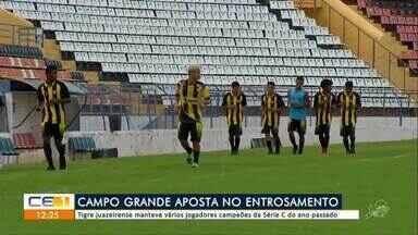 Tigre juazeirense mantem vários jogadores campeões da Série C do ano passado - Outras informações no g1.com.br/ce