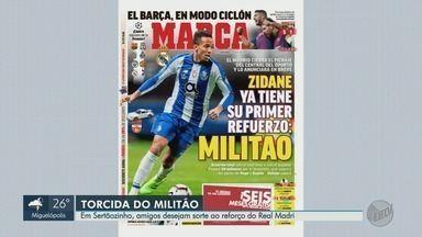 Em Sertãozinho, amigos desejam sorte a Éder Militão no Real Madri - Zagueiro é o novo reforço do time espanhol.