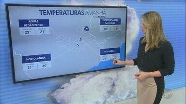 Sexta-feira tem previsão de chuva nas cidades da região - Confira a previsão do tempo.