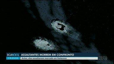 Dois assaltantes são mortos em confronto com a Polícia em Ponta Grossa - Houve perseguição e, segundo a PM, eles atiraram contra os policiais.
