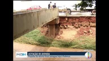 Empresas apresentam propostas para obras da Av. Vicente Guimarães, em Montes Claros - Estrutura do local está completamente danificada.