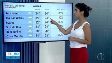 Confira a previsão do tempo para esta sexta-feira (15) no interior do Rio - Assista a seguir.