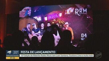 Ribeirão Rodeo Music anuncia Luan Santana, Gusttavo Lima e outras atrações para 2019 - A 15ª edição do Ribeirão Rodeio Music acontecerá nos dias 27 e 30 de abril e 2, 3 e 4 de maio.