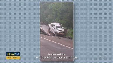 Contrabandista é preso em flagrante após acidente na PR-323 - Carro que se envolveu em batida estava cheio de cigarros contrabandeados.