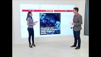 Confira os destaques do G1 desta sexta-feira (15) - Pais reclamam de superlotação em transporte escolar municipal em Janaúba.