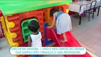 Bem Estar visita creche em Janaúba (MG) que passou por atentado em 2017 - Em outubro de 2017, o vigia Damião Soares dos Santos pediu para entrar na creche e,lá, ateou fogo numa sala onde estavam várias crianças. Ele morreu queimado e provocou a morte de outras 13 pessoas – 10 eram crianças.