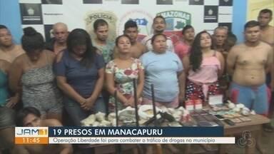 Polícia realiza operação em Manacapuru, no AM - 19 pessoas foram presas.