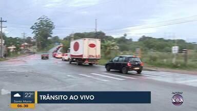 Movimentação é intensa em acesso para Porto Alegre na Av. Potássio Alves - Assista ao vídeo.