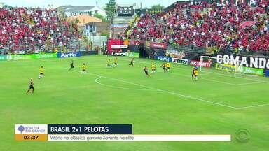 Com gols de Pará e Michel, Brasil de Pelotas vence o Pelotas no clássico - Assista ao vídeo.