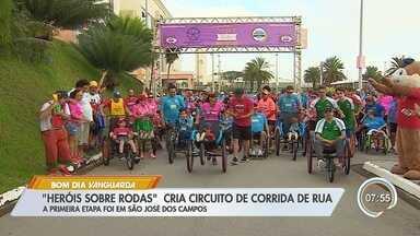 Projeto promove atividades esportiva para pessoas com deficiência - Primeira prova de rua foi em São José dos Campos.