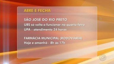 Confira o que abre e fecha no feriado de aniversário de Rio Preto - Confira o que abre e fecha nesta terça-feira (19), feriado de aniversário de São José do Rio Preto (SP).