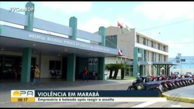 Empresário é baleado em Marabá ao tentar reagir a um assalto - Ele foi atingido na cabeça.