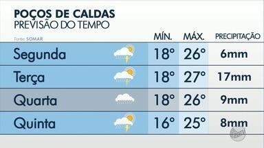 Confira a previsão do tempo para Poços de Caldas, MG - Confira a previsão do tempo para Poços de Caldas, MG