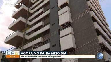 Duas pessoas morrem após elevador cair em prédio no Corredor da Vitória, em Salvador - Caso aconteceu na manhã desta segunda-feira (18).
