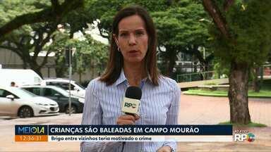 Crianças são baleadas em Campo Mourão - Briga entre vizinhos teria motivado o crime.