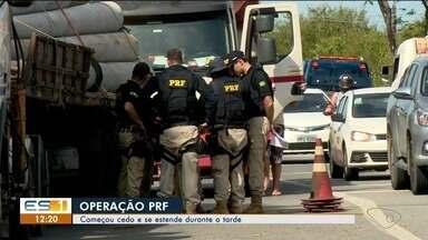 Linhares, ES, tem operação da Polícia Rodoviária Federal (PRF) - Operação começou na manhã desta segunda-feira (18) e se estende até a tarde.