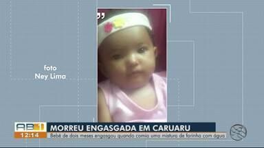 Bebê de dois meses morre engasgada em Caruaru - Testemunhas informaram que ela se engasgou quando a mãe estava tentando alimentá-la com farinha misturada com água.