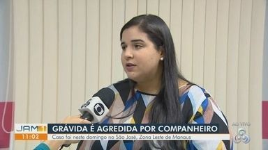 Mulher grávida é agredida pelo companheiro no bairro São José, em Manaus - Suspeito tinha mandado de prisão em aberto.