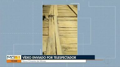 VC no MG: Telespectador de Belo Oriente de Minas reclama de estadas - Ponte onde passa moradores e transportes escolares está danificada.