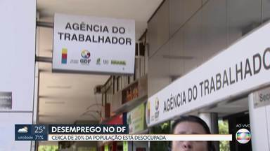 Redação Móvel fala do desemprego no DF - Capital do país tem cerca de 20% de desempregados. Agência do Trabalhador oferece oportunidades para interessados.