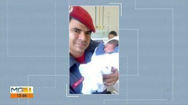 Bombeiros ajudam no parto de mulher em São João Evangelista - Quando a equipe chegou, o bebê já estava coroando.