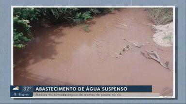 Abastecimento de água é suspenso em Alto Paraguai, depois de mortandade de peixes no rio - Abastecimento de água é suspenso em Alto Paraguai, depois de mortandade de peixes no rio.