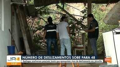 Número de deslizamentos sobe para 48 em Joinville - Número de deslizamentos sobe para 48 em Joinville