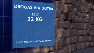 Volume de drogas apreendidas na Dutra no trecho do Vale aumentou quase 100 vezes - Novo tipo de fiscalização auxilia Polícia Rodoviária Federal na identificação do tráfico de drogas.