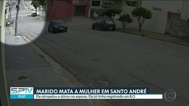 Homem é preso depois de atropelar e atirar na mulher em Santo André, na Grande São Paulo - Eles eram casados há 20 anos e na sexta-feira ela registrou um boletim contra ele por agressão