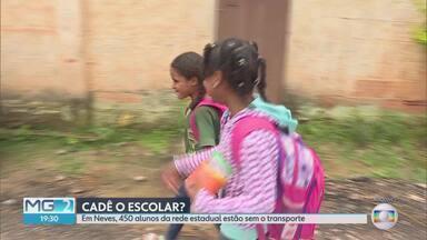 Alunos de Ribeirão das Neves, na Grande BH, estão sem transporte escolar - Estado e prefeitura dizem não ter dinheiro para pagar o serviço
