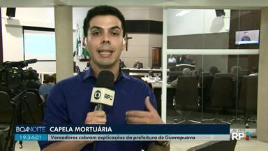 Capela Mortuária de Guarapuava é questionada pelos vereadores - Eles querem saber o porque que o local está fechado.