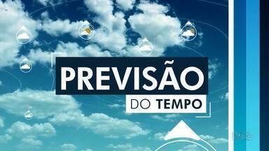 Terça-feira será de tempo firme na região de Guarapuava - As temperaturas ficam próximas dos 30 graus.