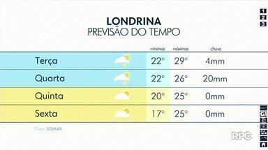 Chuva deve dar uma trégua na região de Londrina - A partir de quinta-feira (21) o tempo deve ficar estável.