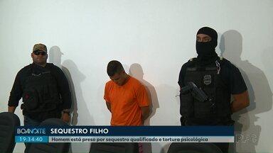 Homem de 29 anos é preso em Londrina por sequestrar o próprio filho - Segundo a polícia, ele gravou, em tom de ameaça, áudios e vídeos no celular e enviou para a mãe da criança.