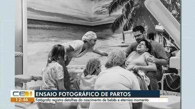 Pais contratam fotógrafos para registrar o nascimento dos bebês - Confira outras notícias no g1.com.br/ce