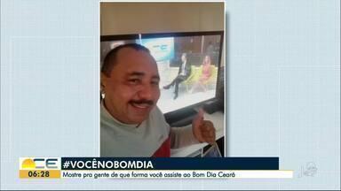Reveja as fotos da campanha Você no Bom Dia desta quinta-feira (21) - Mostre como você assiste ao Bom Dia Ceará.