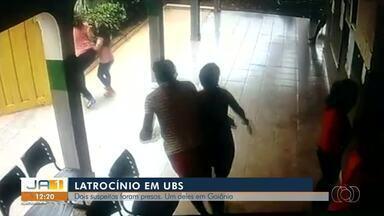 Polícia prende dois suspeitos de matarem morador durante assalto a posto de saúde - Polícia prende dois suspeitos de matarem morador durante assalto a posto de saúde