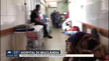 Visita surpresa no Hospital de Brazlândia para fiscalizar atendimento - Uma visita surpresa de integrantes do Conselho Regional de Medicina, de Odontologia e do sindicato dos médicos constatou hoje o caos no atendimento do hospital.