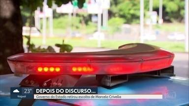 Governador do Estado retira da prefeitura 27 PMs após declaração de Crivella - Prefeito afirmou que PMs sobem morro para arrecadar propinas.