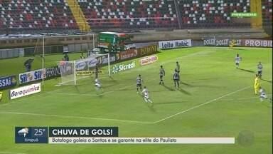 Botafogo-SP goleia Santos e permanece na elite do Paulistão - Jogo terminou em 4 a 0 no estádio Santa Cruz, em Ribeirão Preto.