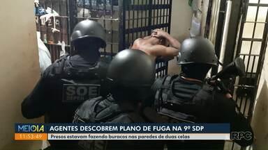 Agentes descobrem plano de fuga na 9ª SDP - Presos estavam fazendo buracos em duas paredes.