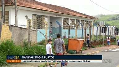 Ladrões invadem escola em Telêmaco Borba três vezes em duas semanas - Pais de alunos pedem que providências sejam tomadas para tornar ambiente mais seguro.