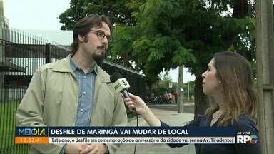 Desfile de Maringá vai mudar de local - O desfile em comemoração ao aniversário da cidade vai ser na Avenida Tiradentes.